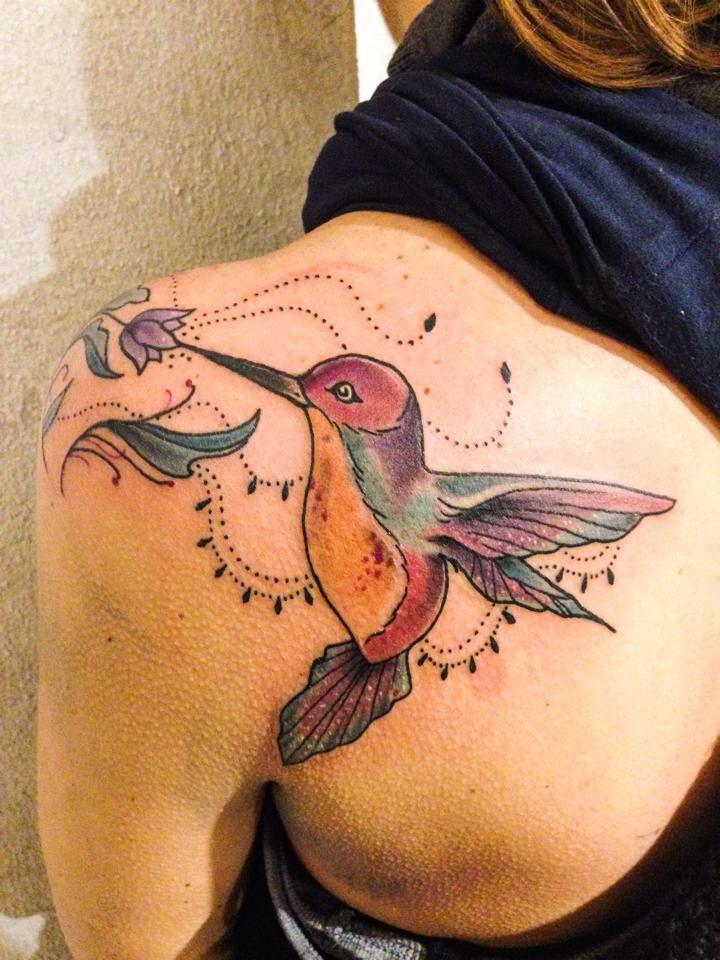Colibrì! Bird tattoo Biancaneve tattooer Milano