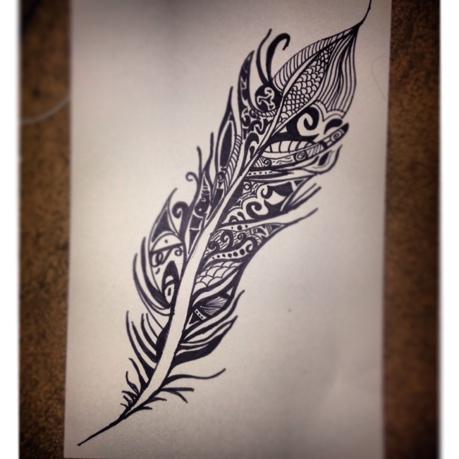 Tribal feather sharpie drawing | Artist's Inspiration ...