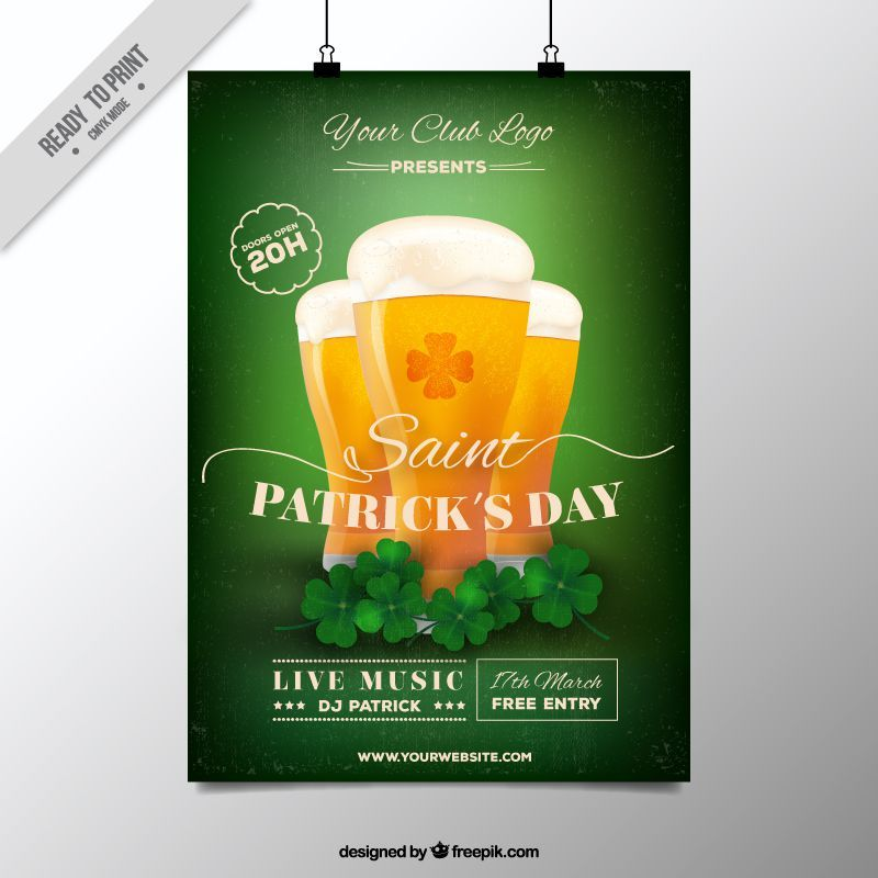Freebie 5 free flyer poster templates for st patricks day saint patrick free flyer invitation poster template ai eps illustrator freebie stopboris Image collections