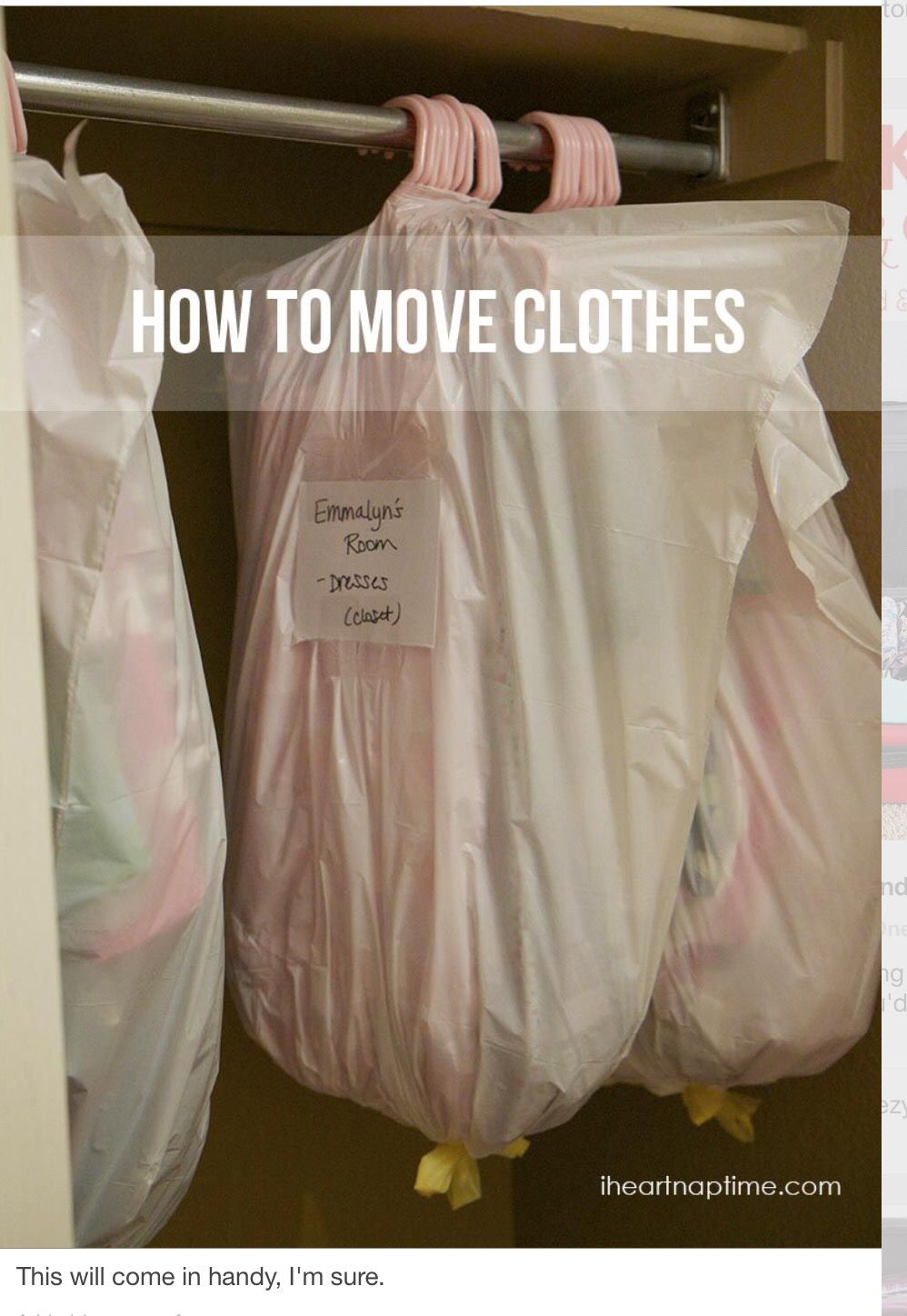 How to move clothes