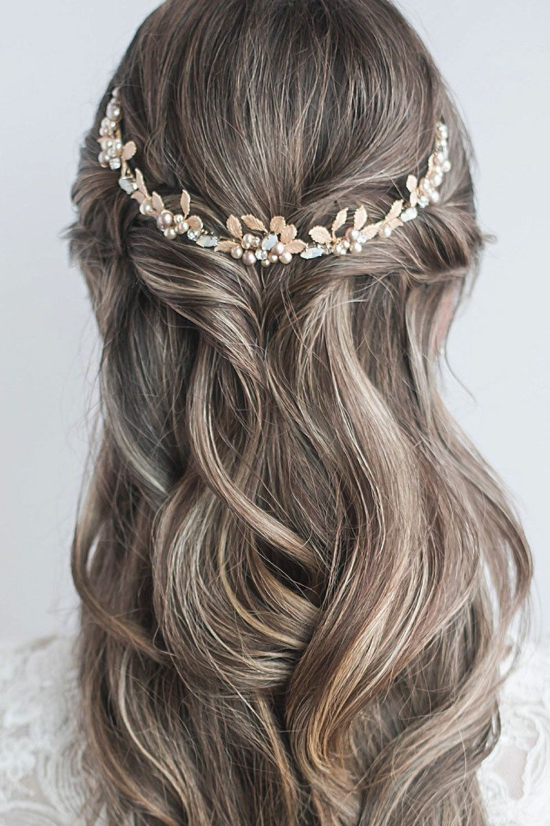 Bliss Tiara | Wedding hair inspiration, Wedding hair half ...