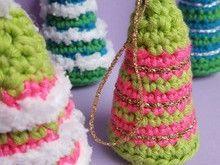 Bunte Tannenbäume Häkelanleitung Kostenlos Weihnachten