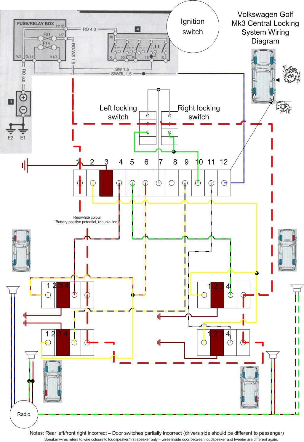 vw ignition switch wiring diagram