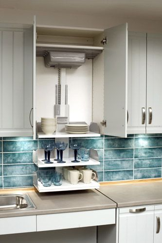 Wheel Chair Accessible Kitchen Cabinet Shelving Lifts Accessible Kitchen Kitchen Design Accessible House