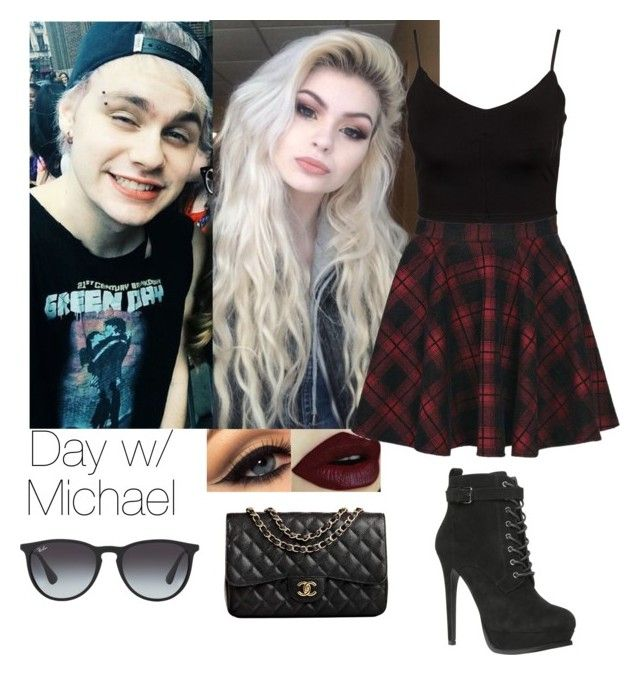 """Day w/ Michael"" by directioner66234 ❤ liked on Polyvore featuring Boohoo, Glamorous, ALDO, A.N.D., Ray-Ban and Chanel"