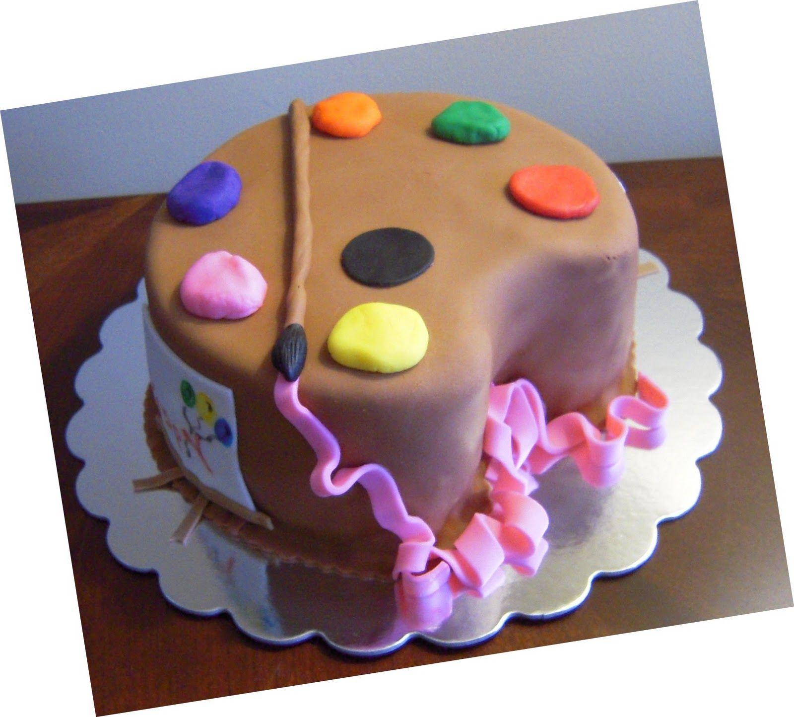 Art Palette Birthday Cake
