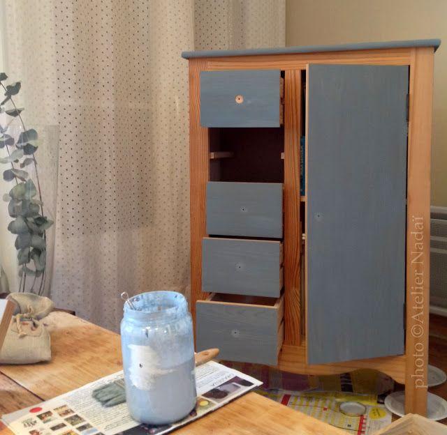 Peinture au lait Relooker deux commodes avec la peinture au lait - peindre une armoire en bois