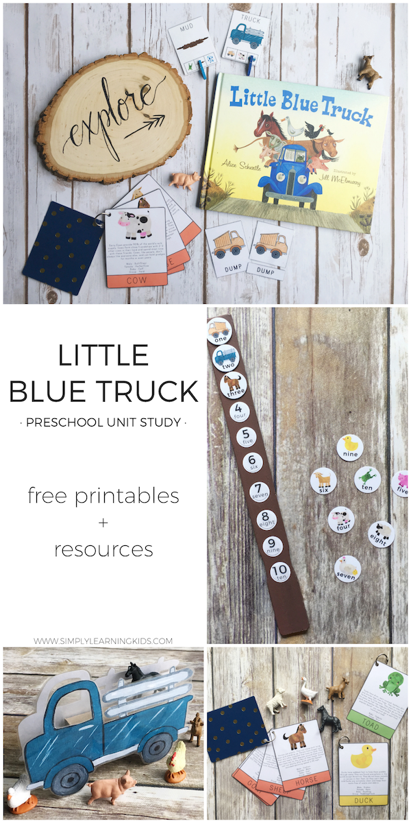 Little Blue Truck Preschool Unit | Free printables, Activities and ...