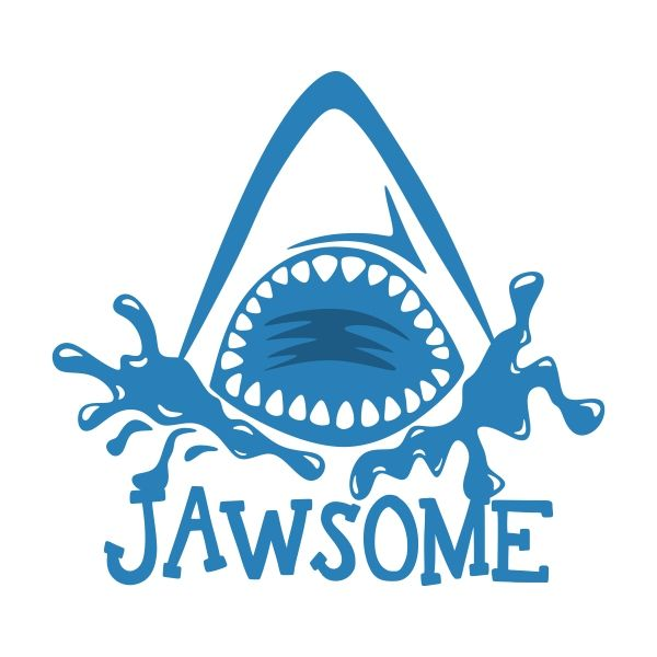 Totally Jawsome Shark Jaw Svg Cuttable Design Cut File