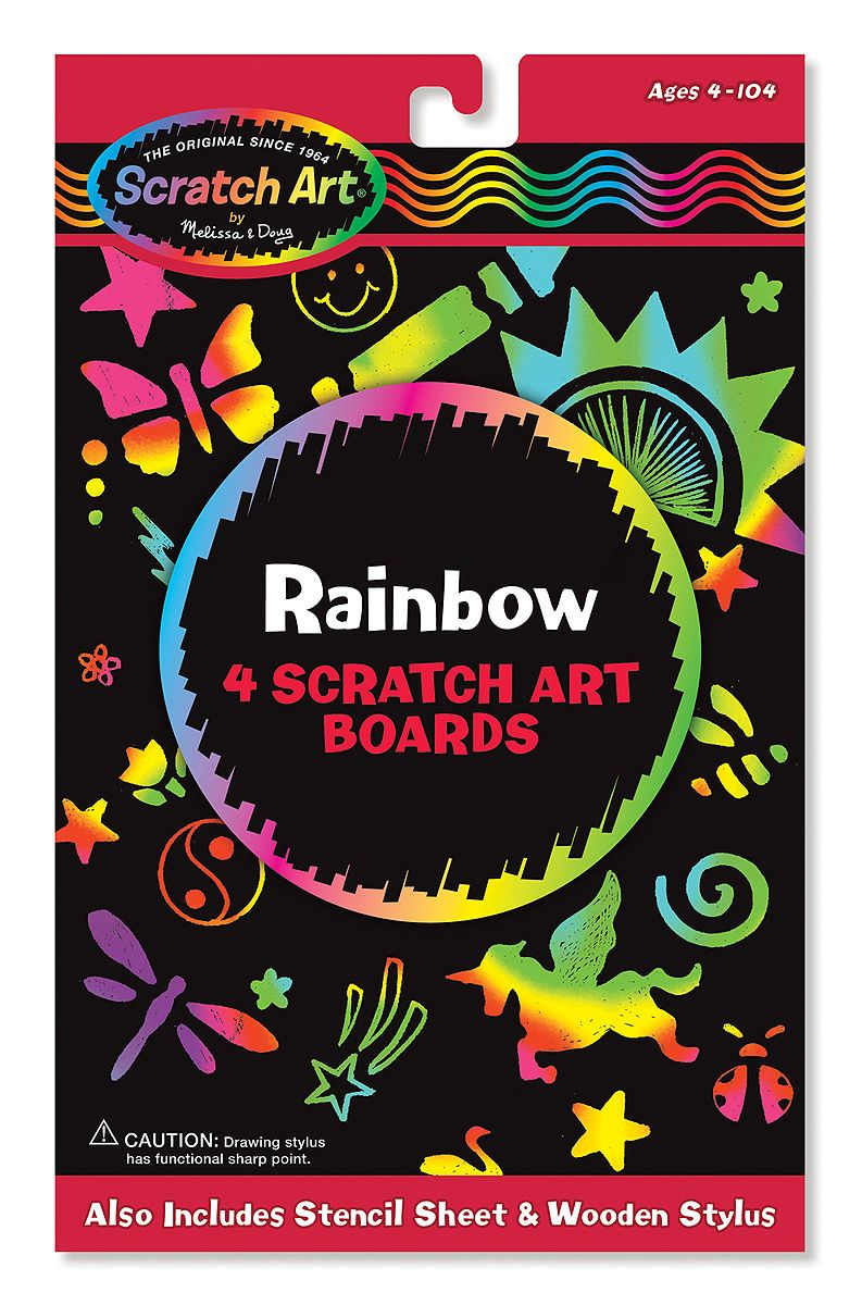 Craft kits for 4 year olds - Scratch Art Rainbow Pack Toys For 5 7 Year Olds Melissa And