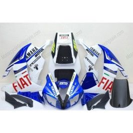 Yamaha YZF-R1 2002-2003 Injection ABS Fairing - FIAT - White/Blue | $639.00