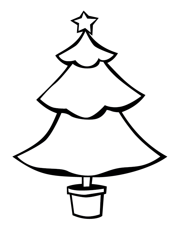 Christmas Tree Outlines Christmas Tree Outline Tree Outline Holiday Tree
