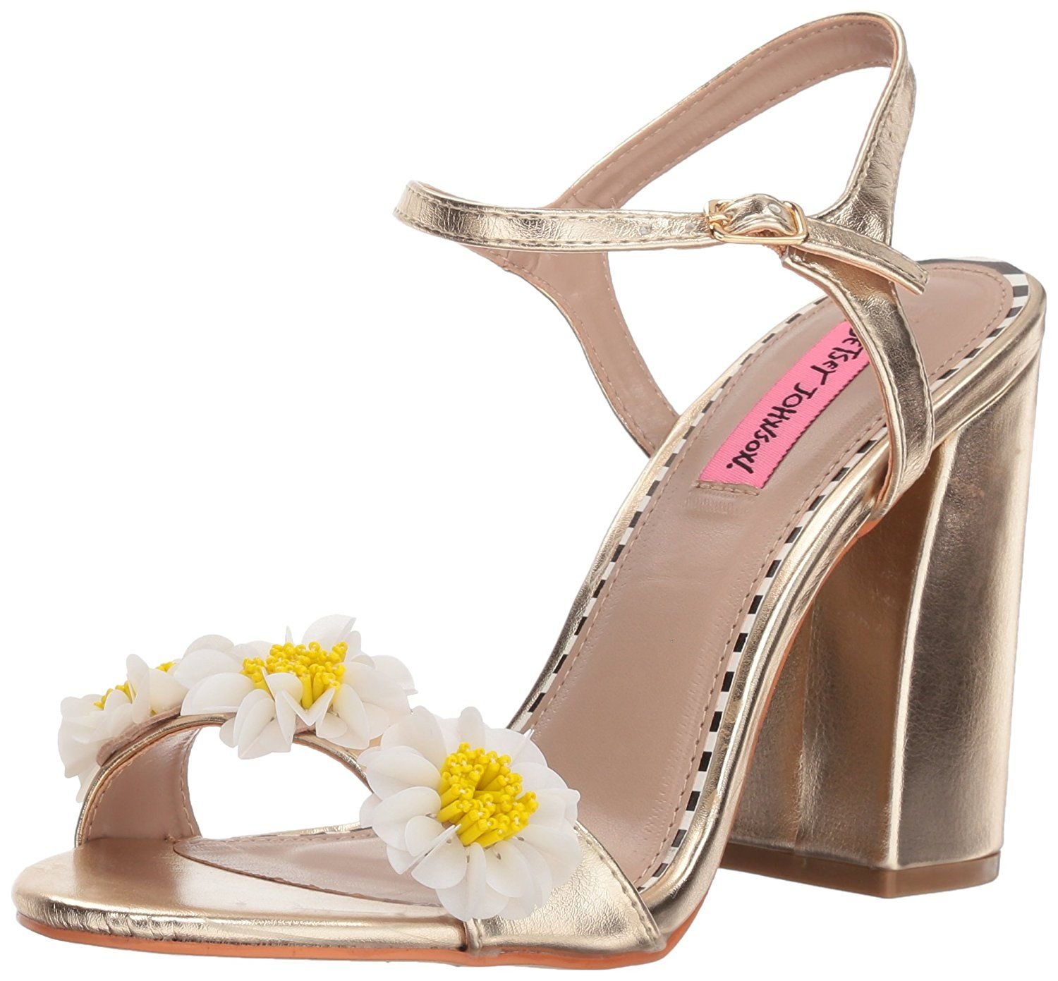 0a5030b98603 Betsey Johnson Women s Sedona Heeled Sandal. The sedona is a study  block-heeled sandal that will give your outfit a dash of floral fun. Women s  Shoes