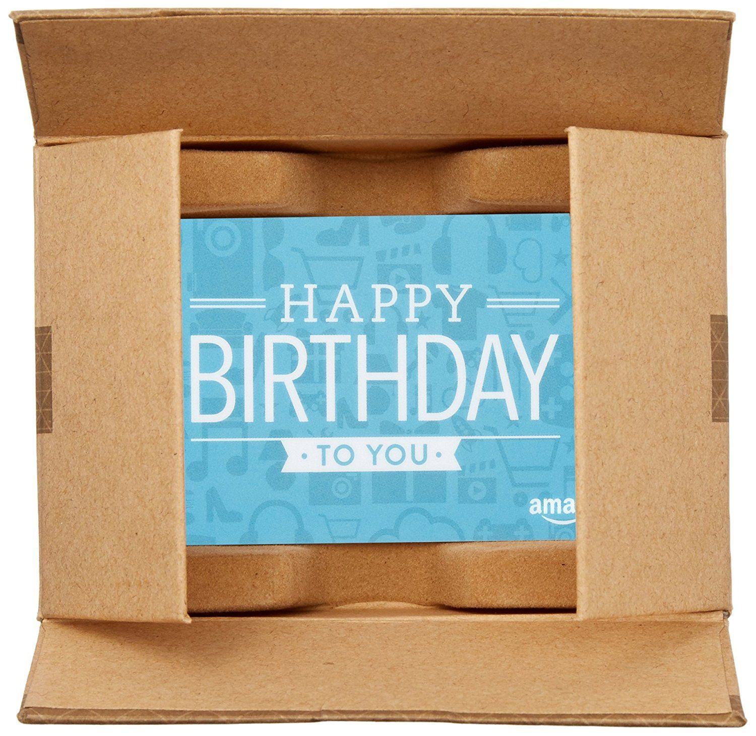 Amazon Com Amazon Com Gift Card For Any Amount In A Mini Amazon Shipping Box Birthday Icons Card Desi Happy Birthday Icons Birthday Icon Cool Gifts For Teens
