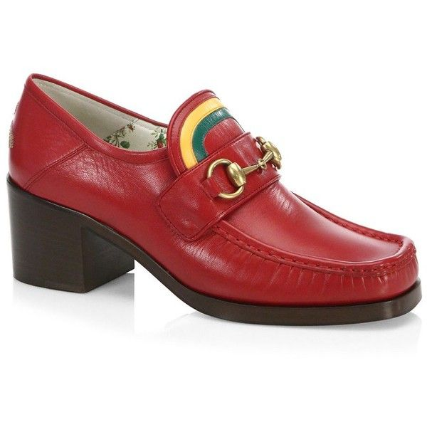 5bc119a91ef Gucci Vegas Loafer with Rainbow ( 790) ❤ liked on Polyvore featuring shoes
