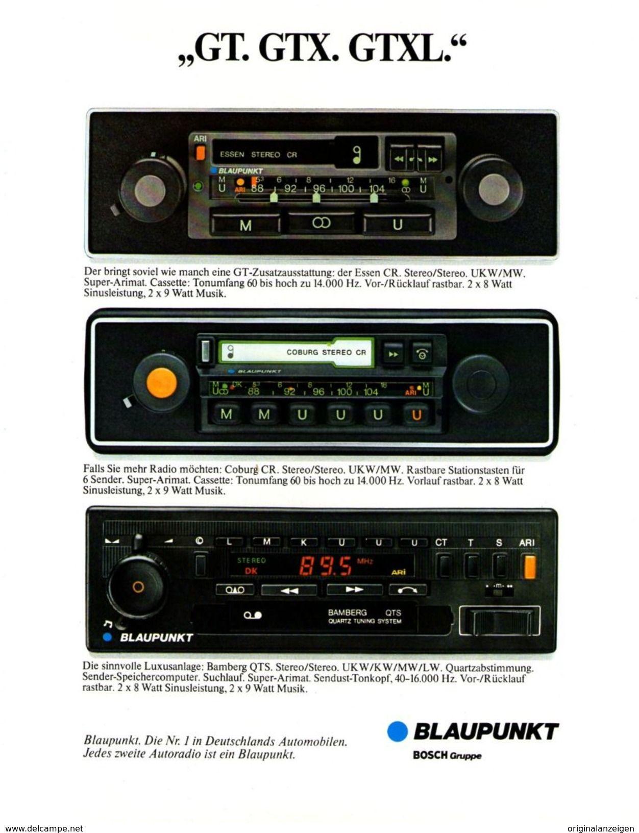 Original Werbung Anzeige 1980 Blaupunkt Autoradios Auto Hifi Ca 180 X 240 Mm Werbung Carros Som Automotivo Carro Brasileiros