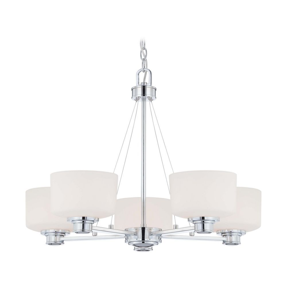 Nuvo lighting modern chandelier with white glass in polished chrome nuvo lighting modern chandelier with white glass in polished chrome finish 604585 aloadofball Choice Image