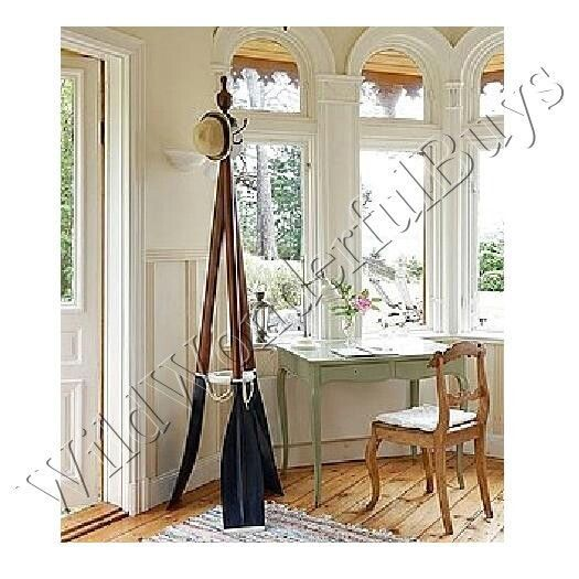 COASTAL DECOR Standing Rowing Boat Oar COAT RACK Nautical ...