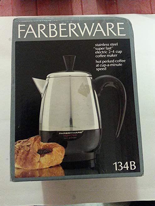 Faberwave Percolator 4 Cup Stainless Steel Model 134 B