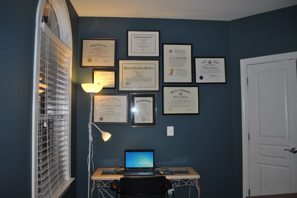 Adventures in DIY: More Office Updates -- Diploma Wall Collage ...