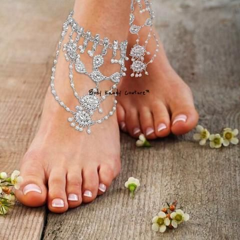 Shop Anklets at Body Kandy Couture Beautiful Bridal Foot Jewelry