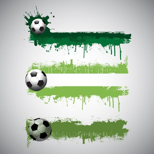 Collection Of Grunge Style Football Bann Free Vector Freepik Freevector Freebackground Freebanner Freeabstract Football Banner Soccer Banner Soccer