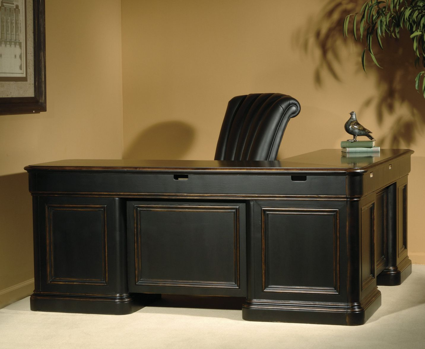 Distressed Wood Home Office Furniture