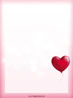 A Single Heart Shaped Balloon Floats On The Pink Background Of This
