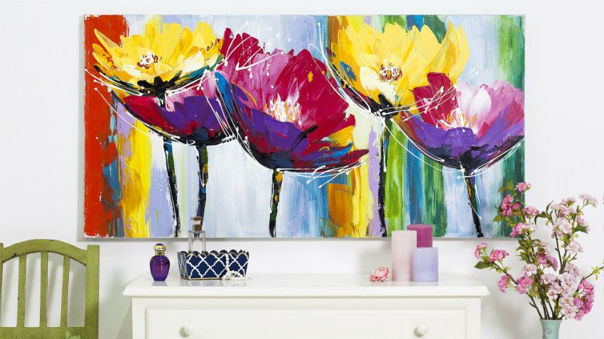 Risultati immagini per quadri moderni con fiori astratti for Immagini quadri astratti moderni