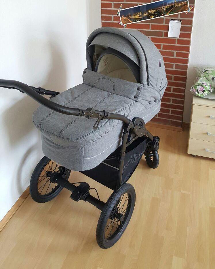 basson baby nordic lux kinderwagen grau melange d nische kinderwagen pinterest kinder. Black Bedroom Furniture Sets. Home Design Ideas