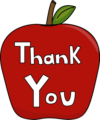 images of thank you clip art | Thank You Apple - big red apple ...
