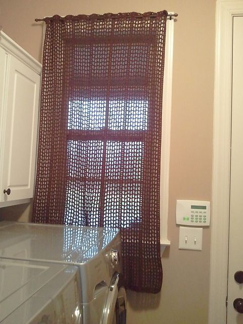 Ravelry Crocheted Curtains Free Pattern By Sue Norrad Crochet