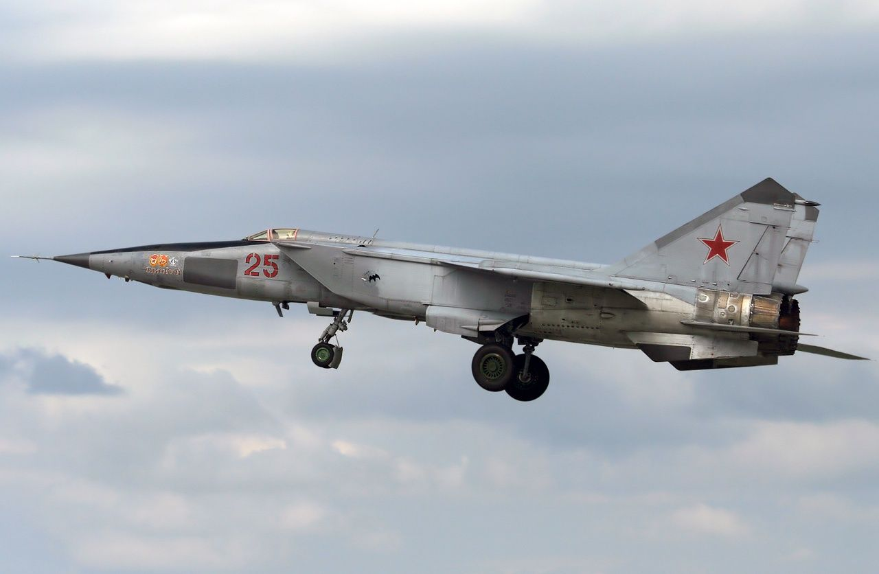 The Mikoyan-Gurevich MiG-25 manufactured by Mikoyan-Gurevich OKB with NATO reporting name as the Foxbat is a Russian supersonic interceptor and reconnaissance aircraft. The MiG-25 was built to counter the Mach 3 XB-70 Valkyrie capable of high performance with a maximum speed of Mach 3.2 and a ceiling of 90,000 ft (27,000 m) equipped with powerful radar and four air-to-air missiles was classed among the fastest military aircraft to enter the Russian Air Force during  the 1960s.
