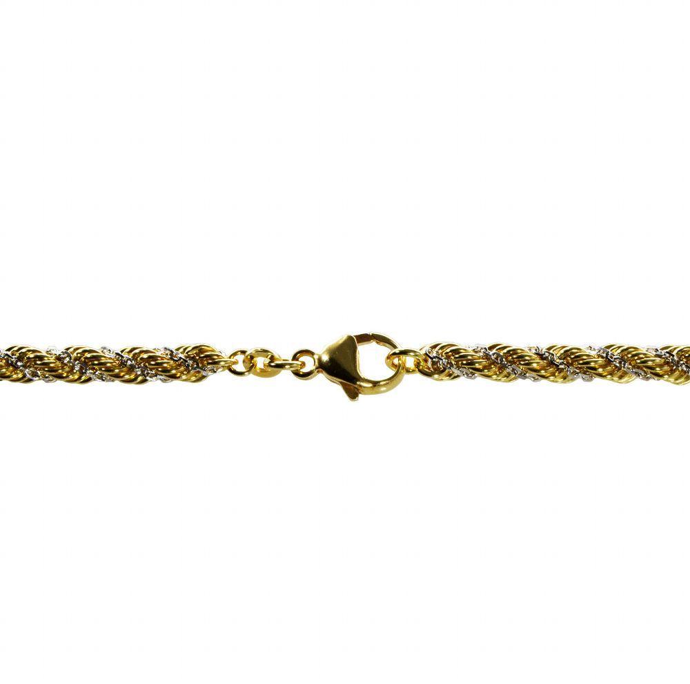 Weißgold farbe  Sale !!! 45cm Kordelkette 333 Gelb- u. Weißgold 3,3mm kaufen bei ...