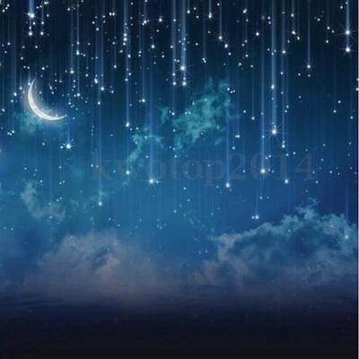 10x10ft Sky Glitter Star Moon Night Photography Backdrop