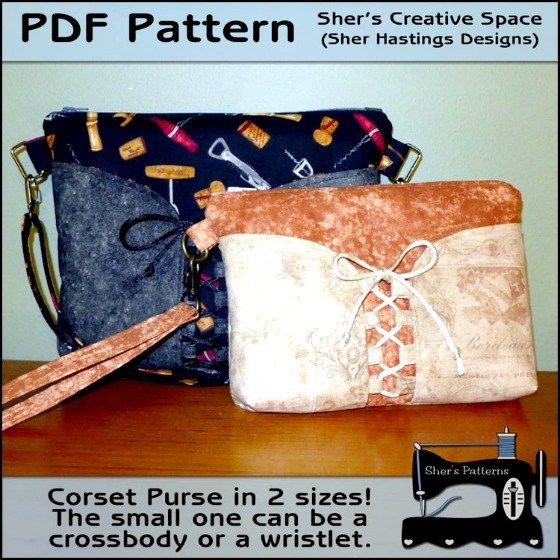 Multi-size Corset Purse + Sew and Sell
