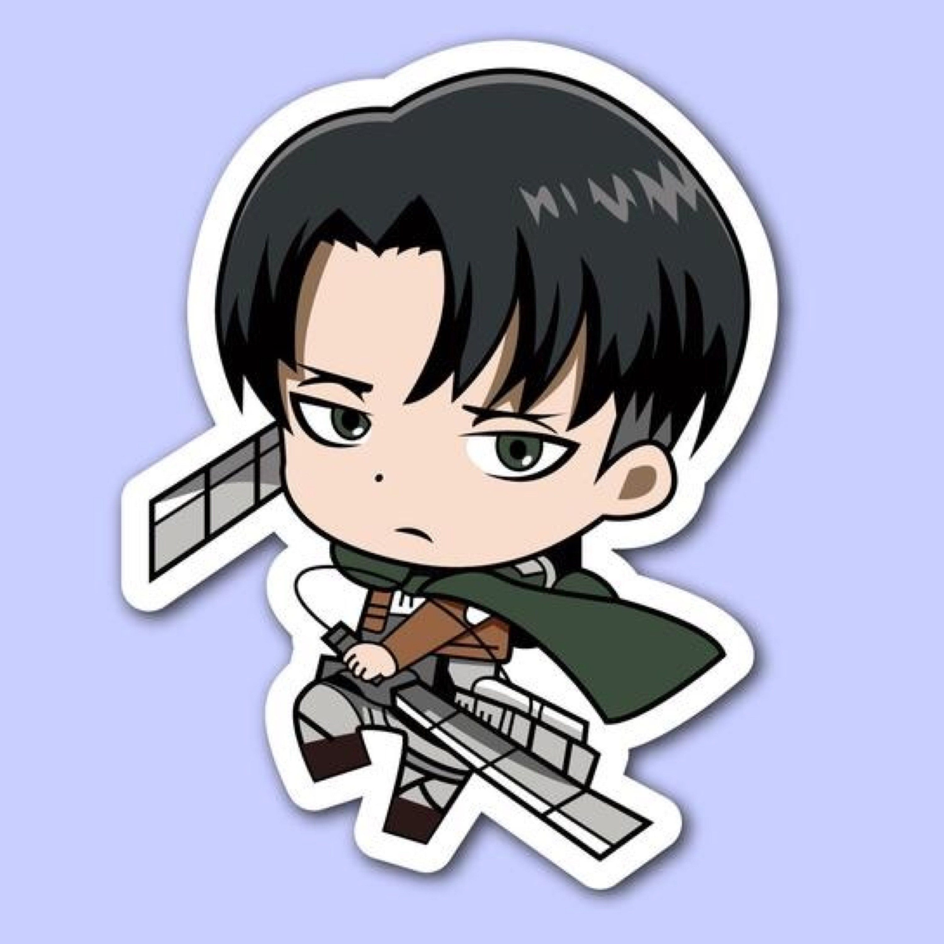 While it's fluid, clean and well draw. LEVI ACKERMAN STICKER Attack on Titan Anime Stickers ...