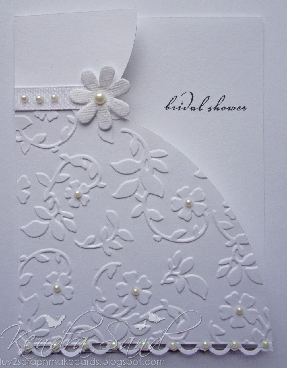 Hochzeitskleid-Karte