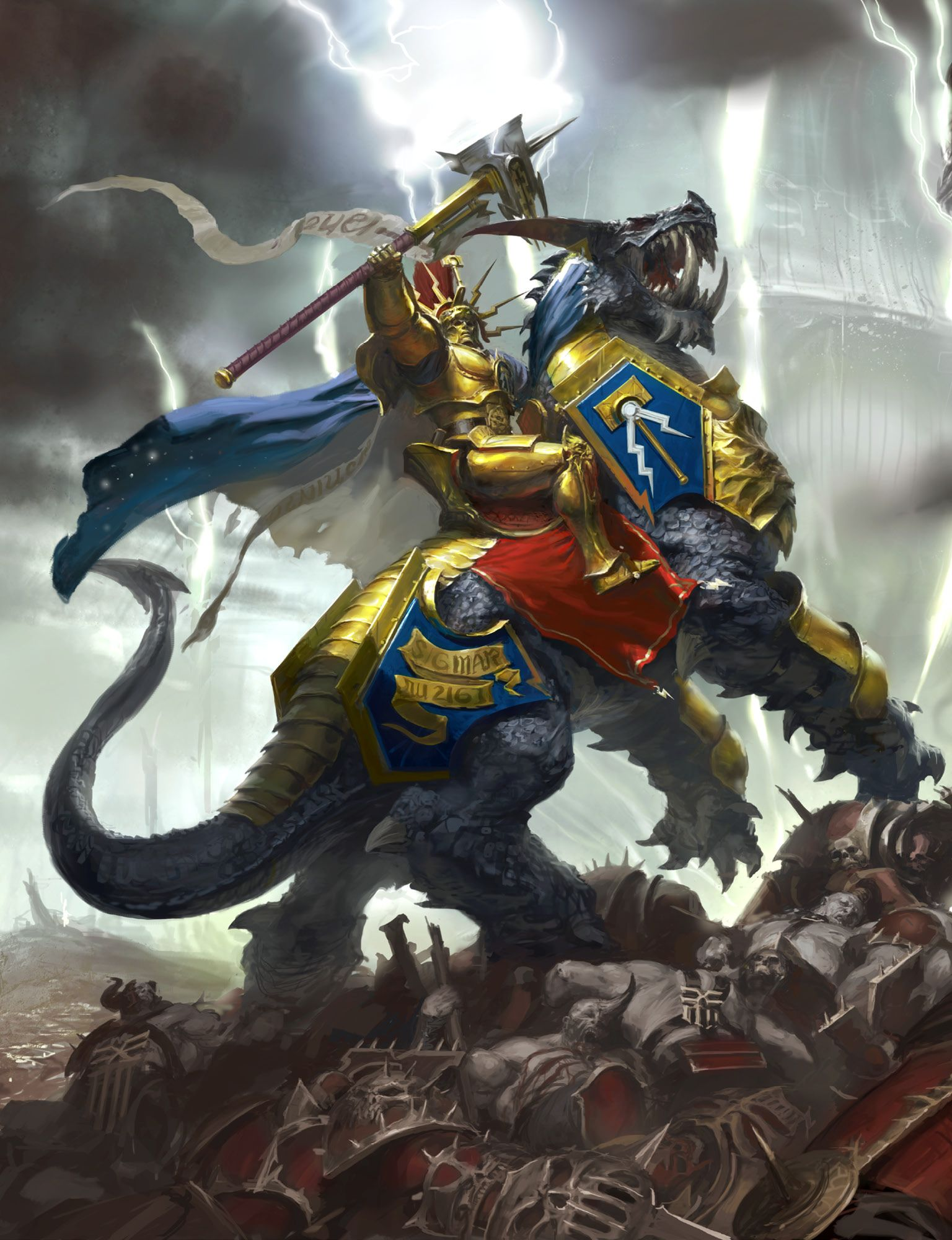 Lord Celestant #ageofsigmar #warhammer #art #fantasy #aos #gamesworkshop  #Stormcast #Chaos | Warhammer art, Warhammer fantasy, Stormcast eternals