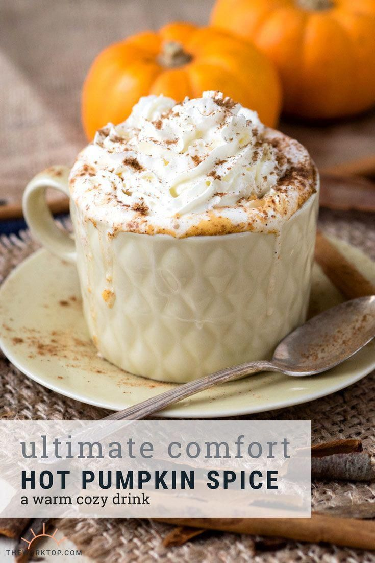 Easy Hot Pumpkin Spice Drink Recipe - made with real pumpkins! (GF, Vegan option). Make this easy recipe that is perfect for kids. Also a good coffee alternative. Recipe on    