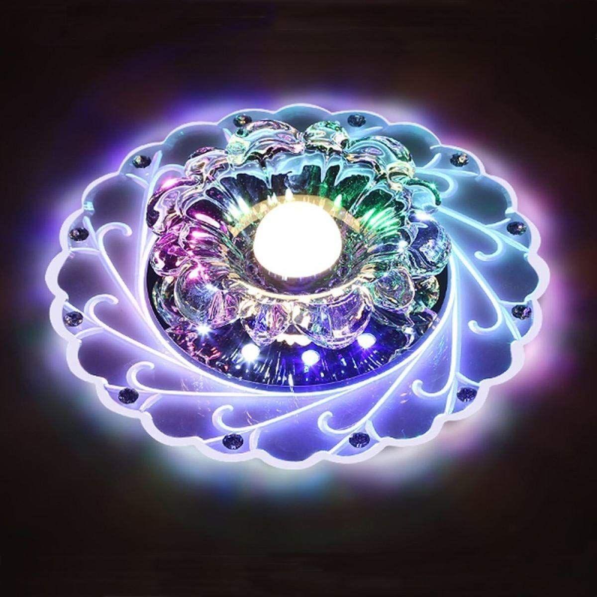Led Kristall Deckenleuchte Farbwechsel Crystal Decken Pendent Lampen Einbauleuchten Kronleuchter Fur Flur Schla Kristall Deckenleuchte Led Lampe Einbauleuchten