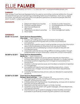 resume examples hospitality pinterest hospitality resume