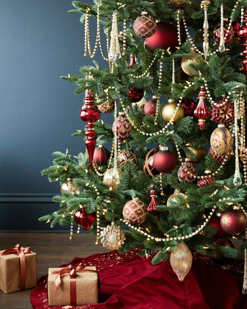 Gold Christmas Tree Decorations By Lisa Markowski On Christmas