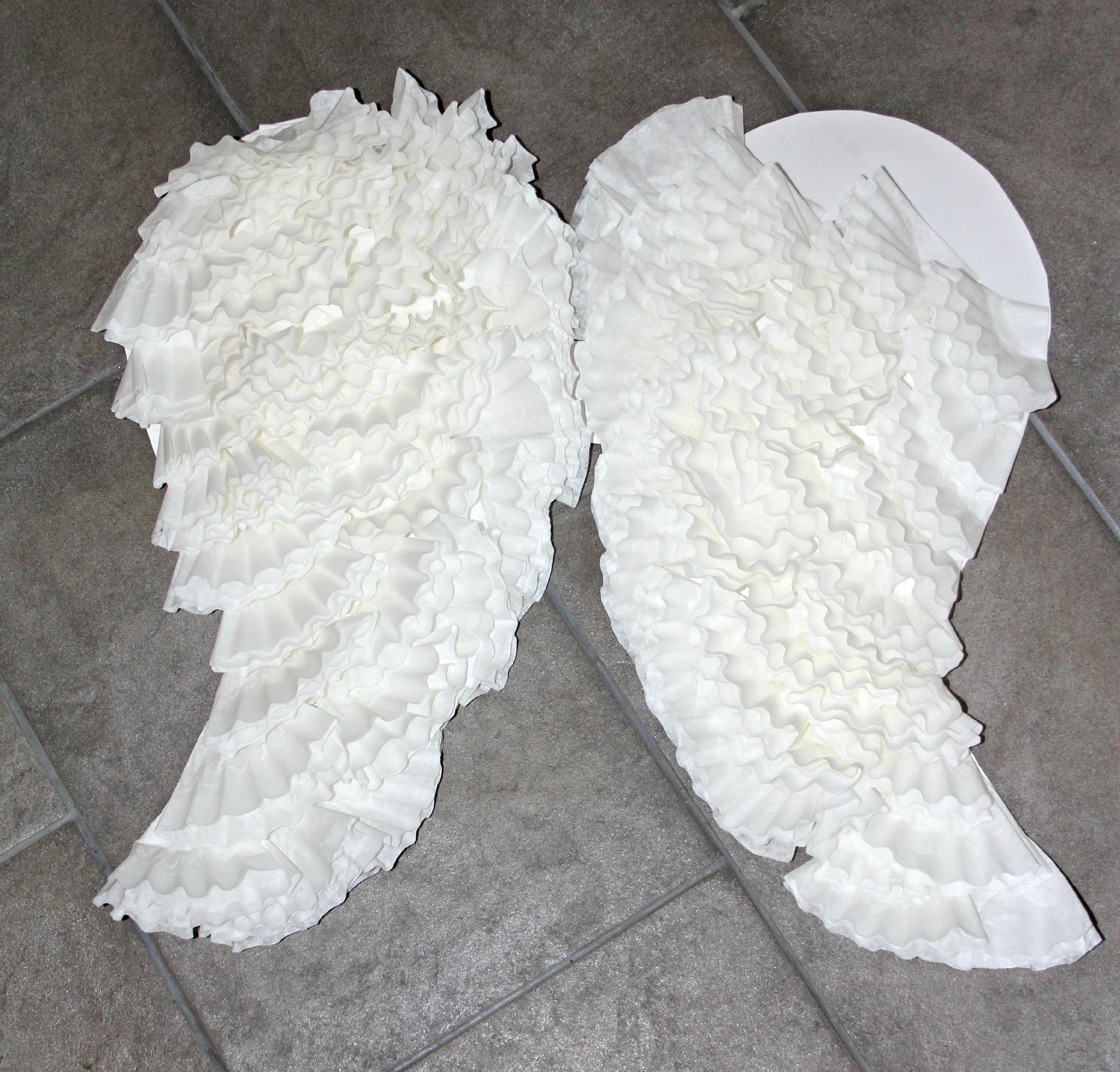 how to make paper angel wings images
