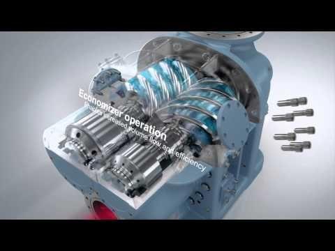 Gea Grasso Screw Compressor Product Animation Water Well Drilling Rigs Compressor Water Well Drilling