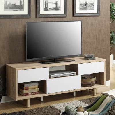 Convenience Concepts Newport Ventura 60 in TV Stand Weathered