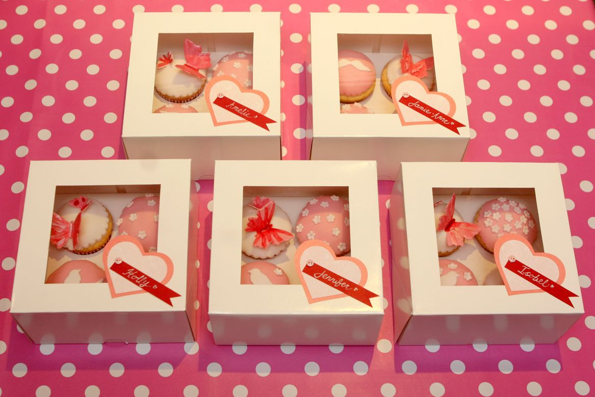 Decorative Cupcake Boxes Takehome Cupcake Boxes  The Girls Each Decorated Four Cupcakes
