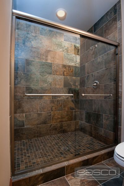 Basco Shower Enclosures Infinity Frameless Shower Door Burnished