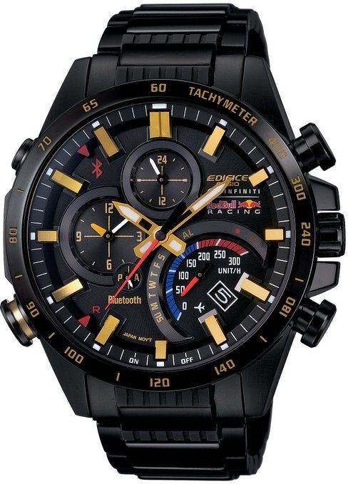 0906ba0fbb3c Amazon.com  CASIO EDIFICE Infiniti Red Bull Racing Limited Edition Bluetooth  EQB-500RBK-1AJR Japan Import  Watches