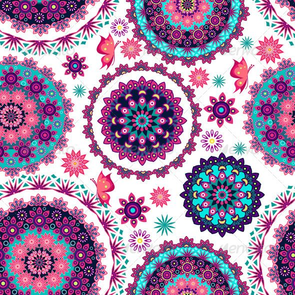 Mandala Flower And Butterflies Vector EPS Wallpaper Nature O Available Here